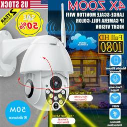 4X ZOOM 1080P FHD In/ Outdoor 360° PTZ IP Speed Dome Camera