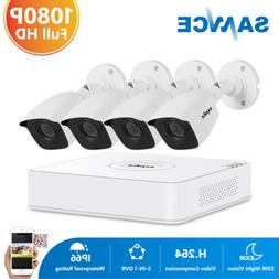 SANNCE 1080P HDMI 8CH DVR Outdoor 1500TVL Security Camera Sy