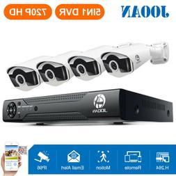 JOOAN 5in1 8CH 1080N DVR 4 720P TVI Night Vision Outdoor Sec