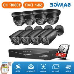 SANNCE 1080P HDMI 8CH DVR 1500TVL IR Outdoor CCTV Security C