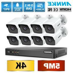 ANNKE 5in1 H.265+ 4K 8MP 8CH DVR Outdoor 5MP Security Camera