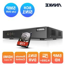 ANNKE 5MP Lite HD H.265+ 8CH 5in1 DVR Recorder for Security
