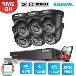 ANNKE 6 1080p Dome Security Camera 8CH 5IN1 DVR Home IR CUT