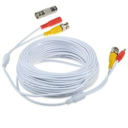 65ft Video and Power BNC Cable for CCTV Security Cameras Amc