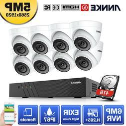 ANNKE 6MP 8CH H.265+NVR Dome 5MP CCTV IP Camera Home Securit