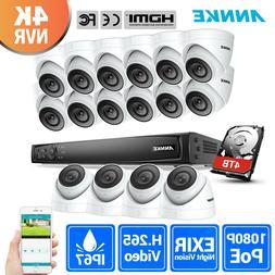 ANNKE 16CH 8MP 4K Ultra HD POE NVR 1080P 2MP CCTV Security C