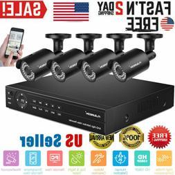 FLOUREON 4CH 1080N DVR Security Camera 5in1 Digital Video Re