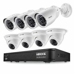 ZOSI 720p HD-TVI Home Security Camera System Full HD, 8 Chan