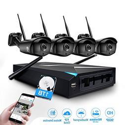 Wireless Security Camera System, JOOAN 1.3MP 4 x 960P WiFi C