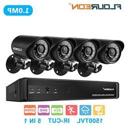 floureon 8 CH House Camera System DVR 1080N AHD + 4 Outdoor/