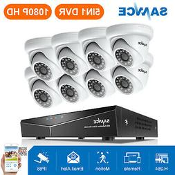 SANNCE 8-Channel 1080N 5IN1 TVI Video DVR 1500TVL Security C