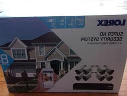 Lorex 8-Channel 8-Camera 4 MP - Super HD Security System wit