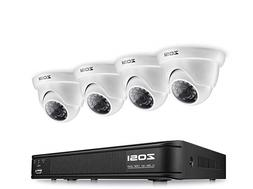 ZOSI 8-Channel HD-TVI 720P Video Security Camera System, 108