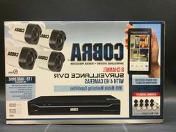 Cobra 8 Channel Security Surveillance DVR with 4 HD Cameras