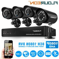 8CH 1080N HDMI CCTV AHD DVR 1500TVL Home Security Camera Sys