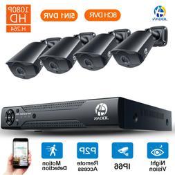 JOOAN 8CH 1080N HDMI DVR 1080P Outdoor Surveillance Security