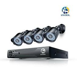 Jooan 8CH 1080N HDMI DVR 720P Outdoor CCTV Video Home Securi