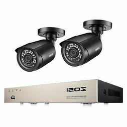 ZOSI 8CH H.265+ 5MP Lite DVR 2 1080P Outdoor Bullet Camera H