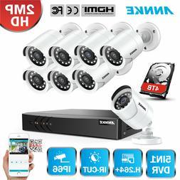 ANNKE 8CH 1080N DVR 3000TVL 1080P Bullet Outdoor CCTV Securi
