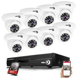 XVIM 8CH 1080P Hybrid DVR 2MP Outdoor Dome Day Night Securit