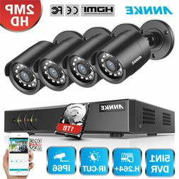 ANNKE 8CH 1080P Lite 5in1 DVR 2MP Outdoor Security Camera Sy