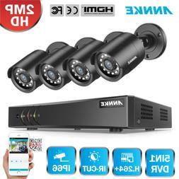 ANNKE 8CH 1080P Lite DVR 2MP Security Camera System IR Motio