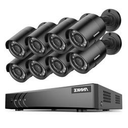 ANNKE 8CH 1080P Lite DVR 8x 2MP CCTV Outdoor Security Camera