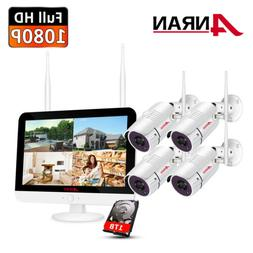 8CH 1080P Security Camera System Wireless Outdoor with 12""