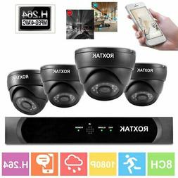 8CH 1080P Surveillance Kit Outdoor Home Security Camera Vide