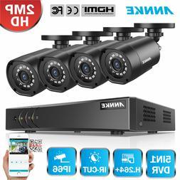 ANNKE 8CH / 4CH 1080N DVR Smart Security 1080P TVI Cameras S