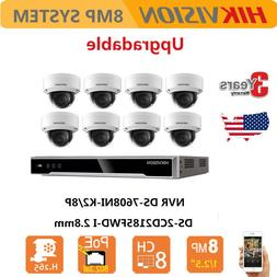 Hikvision 8CH 4K NVR System 8MP Security