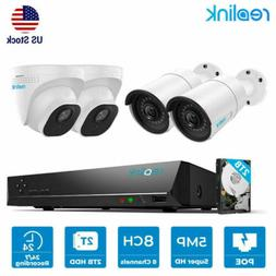 8ch 5mp poe security camera system nvr