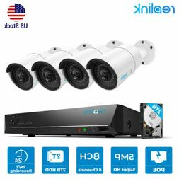 Reolink 8CH 5MP Surveillance System PoE NVR Security IP Came