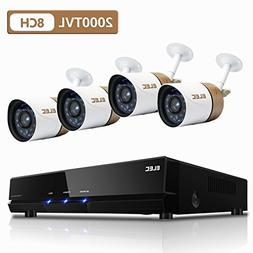 ELEC 8CH 1080N CCTV Security Camera System, 720P AHD DVR Rec