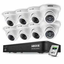 ZOSI 8CH CCTV System Kit 960H Recording Home Security Digita