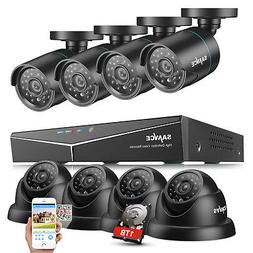 SANNCE 8CH 1080N DVR 1500TVL 720P IR CUT Home Video Security