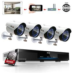 ELEC 4CH 960H HDMI DVR 1200TVL Security Cameras, 4 Channel H