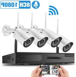 8Ch Expenable Defeway Wireless Security Cameras System, 8 Ch