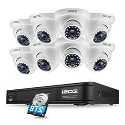 ZOSI 8CH HD 1080N HDMI DVR CCTV Security Camera Outdoor Syst