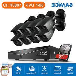 SANNCE 8CH 1080P HDMI DVR 3000TVL HD IR CCTV Video Home Secu