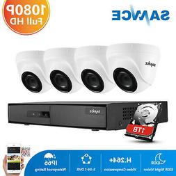 SANNCE 8CH 1080P HDMI DVR Outdoor Home Video 1500TVL Securit
