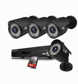 XVIM 8CH 1080N HDMI DVR 720P Outdoor Security Camera System
