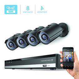 Amcrest 3 Megapixel 2048 x 1536 8Ch Network POE Video Securi