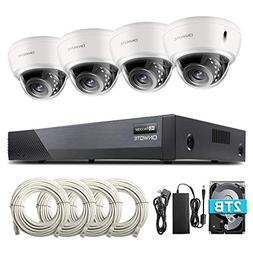 ONWOTE 8CH 5MP PoE Security Camera System with Audio, Vandal