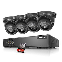 SANNCE 8CH 1080N Security Camera System with 1TB Hard Drive