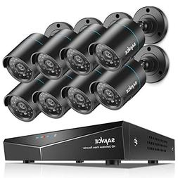 SANNCE 8CH Full 1080N Security Camera System CCTV DVR and  7