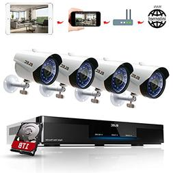 ELEC 1080P 8CH CCTV Security System DVR with  1.3MP 2000TVL
