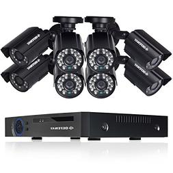 DEFEWAY 8ch Video Security System with 8Channel 1080N DVR, 8