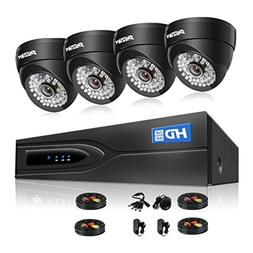 TMEZON 8CH Security Camera System HD-TVI Video DVR recorder