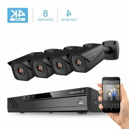 Amcrest 8CH 4K Security Camera System w/H.265 4K  NVR,  x 4K